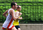 Couple of runners — Stock Photo