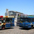 Argentinian buses - Stock Photo