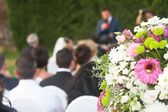 Wedding outside — Stock Photo