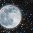 Stock Photo: Iluminated moon