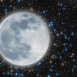 Iluminated moon — Stock Photo
