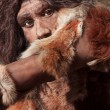 Stock Photo: Neanderthal expression