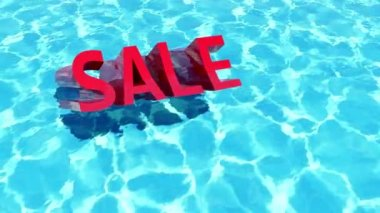 Sale in the water — Stock Video #12710109