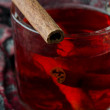 Mulled wine with cinnamon - Stock Photo