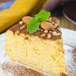A piece of pumpkin cheesecake close up vertical — Stock Photo #14615071