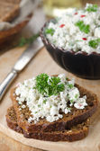 Pate of cottage cheese with herbs and chili peppers — Stock Photo