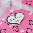 Stok fotoğraf: Gift box with words of love