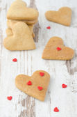 Cookie in the form of heart on the table — Stock Photo