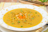 Moroccan chickpeas soup with ginger, horizontal, closeup — Stock Photo