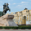 View of the statue of the Bronze Horseman in Saint Petersburg — Stock Photo #22562111