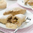 Whole-grain pies with apples and walnuts — Stock Photo