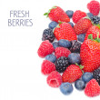 Assorted of fresh berries isolated on a white background — Stock Photo