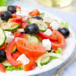 Royalty-Free Stock Photo: Greek salad with feta cheese, olives and vegetables
