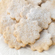 Christmas gingerbread cookies close-up — Stockfoto