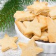 Christmas sugar cookies in the shape of a star, selective focus — Stock Photo #29514217