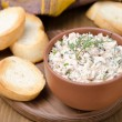 Pate of smoked fish with sour cream and herbs — Stock Photo