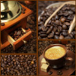 Collage with photos of coffee — Stock Photo