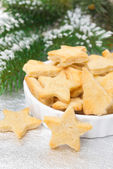 Christmas cookies in the shape of a star, selective focus — Stock Photo