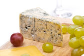 Blue cheese close-up, selective focus — 图库照片