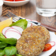 Vegetarian burgers made from lentils and buckwheat, vertical — Stock Photo