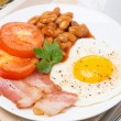 Traditional English breakfast on the plate — Stock Photo