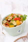 Vegetable stew with beans, vertical — Stockfoto
