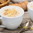 Stock Photo: Cream soup of cauliflower with cheese and pepper