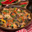 Chili with black beans and chicken — Stock Photo