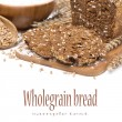 Whole grain bread on a wooden board, isolated — Stock Photo #42197455