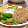Vegetarian burgers made from lentils and buckwheat — Stock Photo