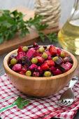 Russian beetroot salad vinaigrette, vertical — Zdjęcie stockowe