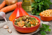 Tagine with beef and vegetables — Stock Photo
