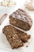Rye bread with seeds — Stock Photo