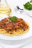 Portion of spaghetti bolognese — Stock Photo