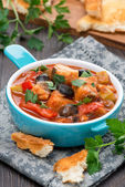 Fish stew in tomato sauce — Foto de Stock