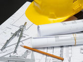Safety architect building site — Stock Photo
