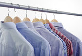 Shirts hanger — Stock Photo