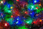 Colorful abstract background with Christmas lights — Stock Photo