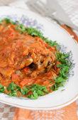 Hungarian fish paprikash — Stock Photo