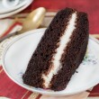 Royalty-Free Stock Photo: Slice of rich moist chocolate cake