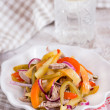 Royalty-Free Stock Photo: Cold beef salad with pickled peppers
