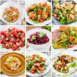 Collage of healthy salads — Stock Photo #24988379