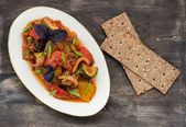 Ratatouille - traditional vegetable stew in plate — Stock Photo