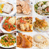Collage of chicken dishes — Stock Photo