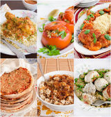 Collage of Middle Eastern food — Stock Photo