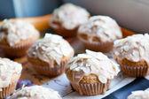 Fresh baked Christmas muffins — Stock Photo