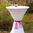 Bar table decorated for outdoor wedding — Foto de Stock