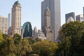 中央公园和曼哈顿天际线 — 图库照片