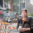 Young man on way to work in New York city — Stock Photo #14321767