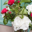 Stock Photo: Bunch of peonies in vase